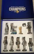 New 2018 Golden State Warriors Bobblehead Set 10 Steph Curry Kevin Durant Trophy