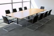 Sven Boardroom Meeting Conference Table 1.8m To 5m Finish Choice Twin Uprights