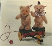 Very Rare 2005 Steiff Rolly Droll Pull Cart Limited Edition 3/1500 New In Box