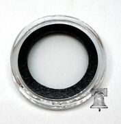 10 Air-tite Coin Holder Capsule Model A Black Ring 18mm Barbados Ten Cents Case