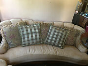 Schnadig Dunwoody Sofa And 1.5 Chair With Oversized Ottoman And 7 Pillows
