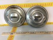 Two 1950-1960 Jaguar 3.8s Mkii 10andrdquo Hubcaps Oem Used Vintage Classic