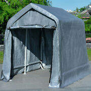 Quictent Storage Shed 10and039x 10and039 Carport Garage With Auger Anchors And Ratchets
