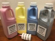 350g X 4 Dry Ink Refill Toner For Xerox Docucolor 12, 1256, 50 - 4pk Bcmy