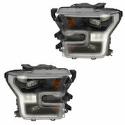 Oem New Front Right And Left Led Headlight Lamp Set 2 2017-2018 Ford F-150