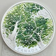 2018 30 Canadian Canopy The Maple Leaf, 2 Oz. Pure Silver Colored Proof Coin