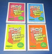 Lost Wacky Packages Box Stickers 1st Series Black Ludlow Set 19/20 @@ Rare @@
