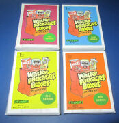 Lost Wacky Packages Box Stickers 3rd Series Red Ludlow Set 09/15 @@ Rare @@