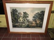 Original Currier And Ives Print The Farmers Home Summer Large Folio