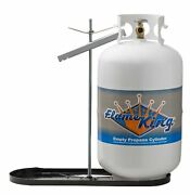 Flame King Dual Rv Propane Tank Cylinder Rack For Rvs And Trailers For 30lb T...