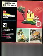 Snoopy And The Red Baron Charlie Brown Gaf 3 Talking Viewmaster Reels In Box