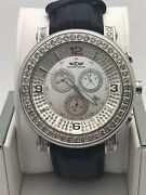 Techno Diezel Men's Silver Dial Stainless Steel Case Leather Band Watch 49018