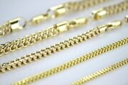 Authentic 10k Hollow Yellow Gold Franco Necklace Chain 1.5-6mm/16-40