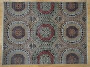 New Listing 9and039x12and039 Vintage Look Mamluk Zero Pile Shaved Low Worn Wool Rug G41328
