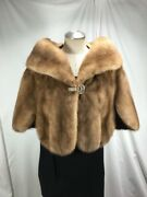 Free Shipping Graceful Warmth Luxury Real Us Autumn Haze Mink Celebrity Fur Cape