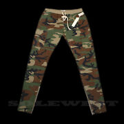 Brand New Fear Of God Pacsun Menand039s Camo Drawstring Cargo Pants S M L Xl Fog