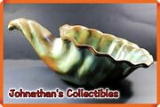 Jcandc - Rare Original Creation By Frankoma Pottery Cornucopia Or Planter - Mint