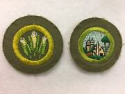 Vintage Cut Edge Merit Badges Corn Farming And Farm House And Its Planning