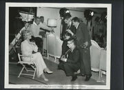 Doris Day Candid With Photographers On Set - 1960 Vintage Photo - Midnight Lace