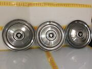 3 Lot Rare Vintage 1965 Amc 14 Hubcaps Ambassador Excellent Condition Oem