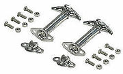 Jeepster Jeep Cj Yj Stainless Steel Hood Hold Down Set