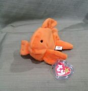 Ty Beanie Baby Goldie The Gold Fish  Style 4023, 1993 Pvc, W/errors Mwmt