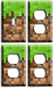 Video Game Pixels Theme 1 Light Switch3 Outlet Wall Plates Boys Room Home Decor