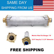 New Marine Heat Exchanger 18 3/4andrdquo Long By 3 1/2andrdquo Diameter Free Shipping Us Stock