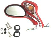 8mm Electric Rearview Mirror Gy6 50cc 150cc 250cc Moped Scooter A Pair