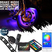16x H.d Led Neon Under Glow Lights Strip Kit For All Harley Davidson Motorcycles