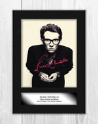 Elvis Costello 1 A4 Portrait Signed Mounted Photograph Poster. Choice Of Frame