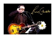 Elvis Costello 3 A4 Landscape Signed Photograph Poster. Choice Of Frame.