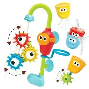Yookidoo Baby Bath Toy- Spin N Sort Spout Pro- Three Stackable Cups Automate...