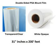Clear And White Double-sided Mounting Laminate Perm Self-adhesive 31 X 200 Feet