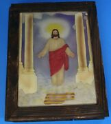 Vintage Wooden Holy Bible Hand Painted Box Storage 10 1/2 X 8 1/2× 2 Unique