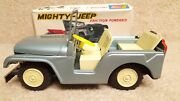 Working Vintage Sss Shoji Tin Mighty Jeep With Box Friction Toy Made In Japan