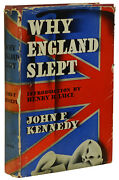 Why England Slept By John F. Kennedy First Edition 1940 Jfk 's 1st Book Wwii