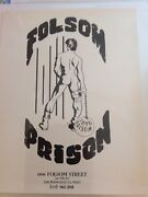 Folsom Prison Leather Bar Poster San Francisco C.1970and039s