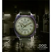 New Oooout Of Order Watch Torpedine Green Limited Automatic Damaged In Italy