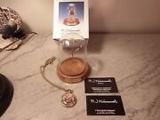 Vintage M J Hummel Ring Around The Rosie Watch Pendant With Box And Glass Dome