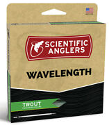 Sa Wavelength Trout Wf-4 Floating Fly Line - Willow/dk Willow - New - Free Ship