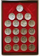 Complete Set 20 Parables Of Jesus Solid Sterling Silver Medals - 83 Troy Ounces