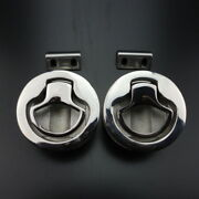 2pcs Marine Boat Stainless Steel 2 Flush Pull Hatch Latch Deck And Cabin Hardware