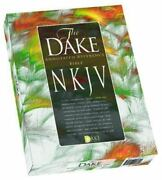 Dakeand039s Annotated Reference Bible Nkjv Burgundy Leather Soft By Finis J Dake New