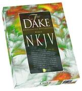 Dake's Annotated Reference Bible Nkjv Burgundy Leather Soft By Finis J Dake New