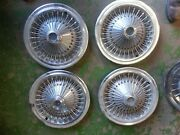 70 71 72 73 74 Dodge Charger And Others, 14 Hub Cap Wire Spoked Set