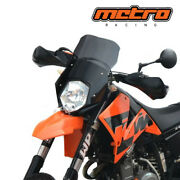 Ktm 640 Lc4 Supermoto And03905-and03907 Touring Windscreen Windshield Free World Shipping