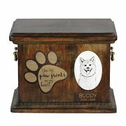 Akita Inu - Urn For Dogandrsquos Ashes With Ceramic Plate And Description Usa