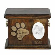 Collie - Urn For Dogandrsquos Ashes With Ceramic Plate And Description Usa