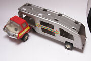 Tonka Car Carrier Hauler Trailer Truck Tractor Usa 14 + Cab Vintage Used C23